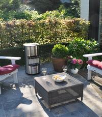 Outdoor verwarming - Cabinetheater. Geeft uw terras een warme en gezellige uitstraling